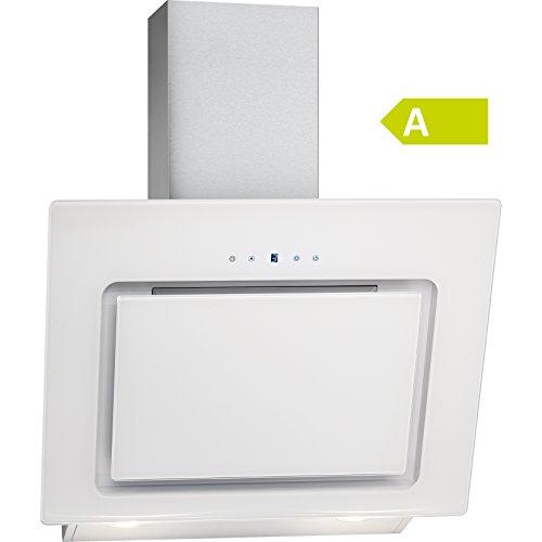 Bomann DU 771 G Kopffreie Vertikal-Dunstabzugshaube/ A / 60 cm / weiß / LED-Display